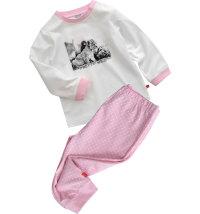 Pamučna pidžama s printom, vel. 74-98