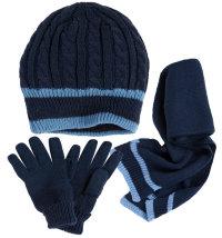 Niki set kapa-šal-rukavice za dječake, vel.: 54 (8-12 god.)