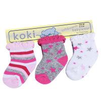 Koki set čarapa za bebe djevojčice, vel.: 56-86