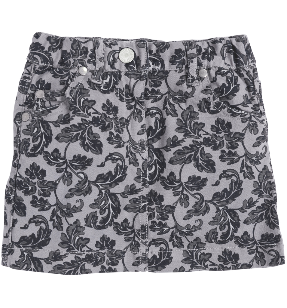 Dječja suknja s uzorkom siva