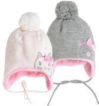 Niki topla kapa za djevojčice, vel: 46 - 50 cm (2 - 6 godina)