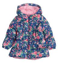 Zimska jakna s kapuljačom i uzorkom cvjetića, vel. 98-116