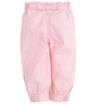 Lagane ružičaste keper hlače s mašnom