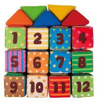 Didaktičke Mekane Kocke za igru i učenje (12+5), 12mj.+