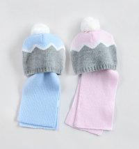 Koki topla kapa i šal za djevojčice i dječake, vel. 44-50 cm (6-12 mjeseci)