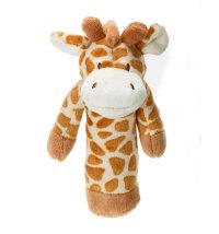 Pliš zvečka Žirafa, 15 cm