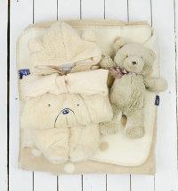 Poklon set: deka, topli kombinezon, medvjedić Ellton i poklon vrećica, vel. 50-62