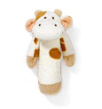 Pliš zvečka Krava, 15 cm