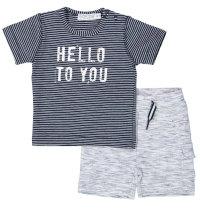 DIRKJE Prugasti komplet majica kratkih rukava i kratke hlače