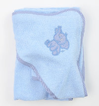 Pamučni frotirni ručnik s kapuljačom i trljačicom, vel. 90x90 cm