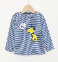 Majica na prugice s printom psa