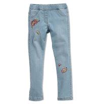 KNOT SO BAD Traper hlače s aplikacijom cvijeća i leptira