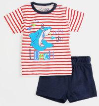 KNOT SO BAD Komplet majica kratki rukav s printom morskog psa i kratke hlače