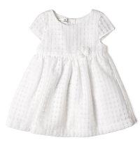 BABYBOL Svečana bijela haljina kratkih rukava