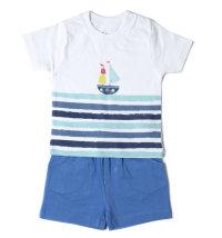 BABYBOL Mornarski komplet majica kratkih rukava i kratke hlače