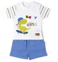 MINIBOL Komplet majica kratki rukav i kratke hlače sa dinosaurom