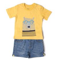 Komplet žuta majica kratkih rukava i kratke hlače