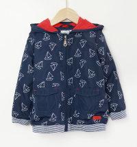 Plava podstavljena jakna sa brodićima