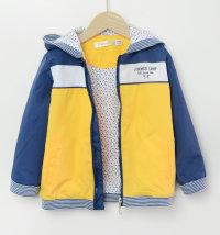 Plavo žuta podstavljena jakna