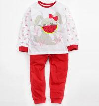 MINIBOL Dvodjelna pidžama s printom zeca