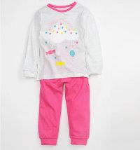 MINIBOL Dvodjelna pidžama s printom oblaka