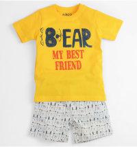 MINIBOL Dvodjelna kratka pidžama Bear