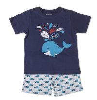 Dvodjelna kratka pidžama s printom kita