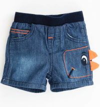 KNOT SO BAD Kratke traper hlače s našivkom dinosaura
