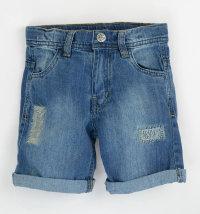 KNOT SO BAD Kratke traper hlače - bermude sa zakrpama