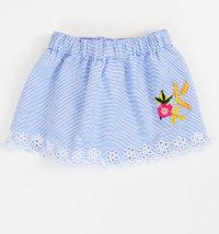 KNOT SO BAD Prugasta suknja s cvjetnim vezom