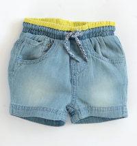 KNOT SO BAD Kratke traper hlače sa žutim detaljima