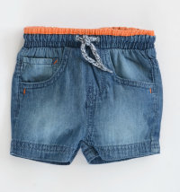 KNOT SO BAD Kratke traper hlače s narančastim detaljima