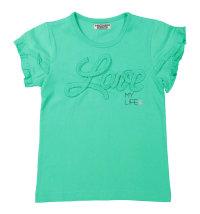 DIRKJE Zelena majica kratkih rukava s aplikacijom