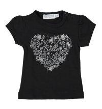 Crna majica kratkih rukava sa srebrnim printom