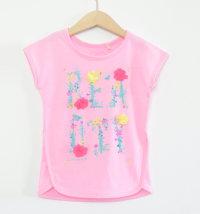 KNOT SO BAD Majica s printom i aplikacijom cvjetića od tila