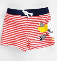 KNOT SO BAD Mornarske kupaće gaće s printom pelikana
