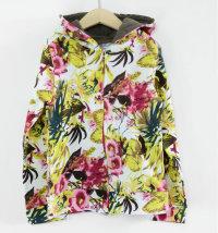 Pamučna majica s kapuljačom i cvjetnim uzorkom