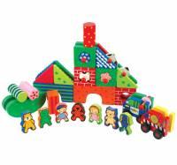 Kidiwood didaktička drvena igračka za slaganje Kidi Town
