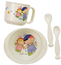 K's Kids set za jelo/ Bowl, Cup, Spoon & Fork