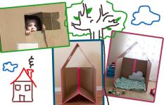 Kućica od kartonske kutije