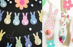 Napravite s djecom girlandu od zečića za Uskršnje blagdane!